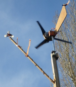 Wind turbine data logger test